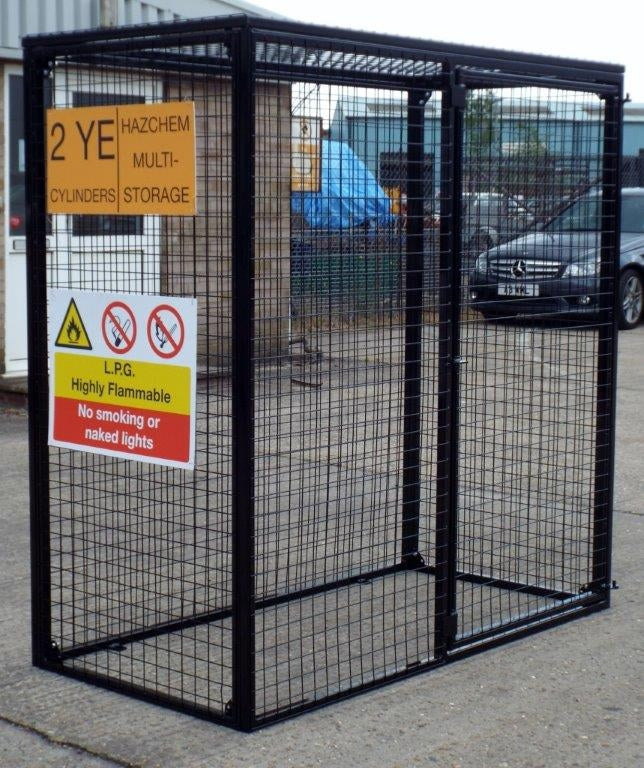 Gas Bottle Storage Cage GC35 H1800 x W1800 x D900mm (10x 47kg)