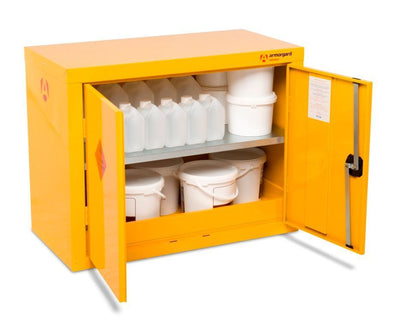 Armorgard HFC1 Safestor Chemical & Flammable Liquid Storage 900 x 465 x 700mm