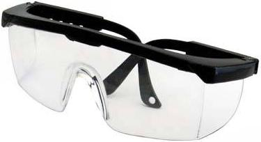 Eye protective glasses - Wraparound design