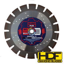 DURO DPA/C - Diamond Blade 350mm / 14in - Asphalt & Concrete - View Cutting Details