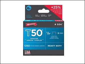 Arrow t50 Staples - 6mm Box 5000