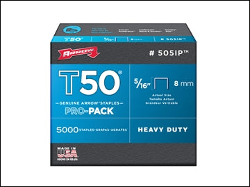 Arrow t50 Staples - 8mm Box 5000