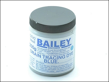 Drain Tracing Dye - Yellow or Blue (BAILEY)