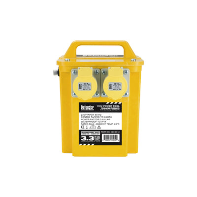 3.3kVA TRANSFORMER 2x16A OUTLETS
