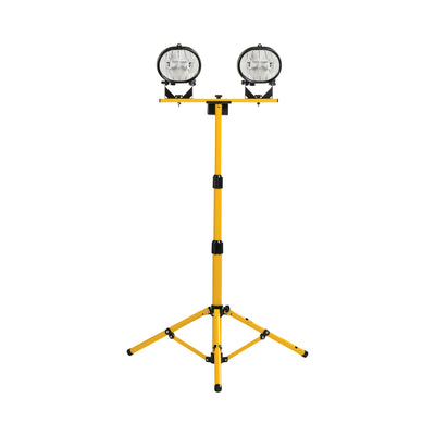 Workshop Halogen Twin Head Tripod Work Light 240V