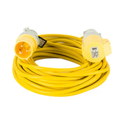 14M Extension Lead - 16A 2.5mm Cable - Yellow 110V