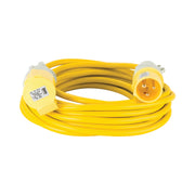 10M Extension Lead - 16A 2.5mm Cable - Yellow 110V