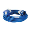 14M Extension Lead - 16A 2.5mm Cable - Blue 240V