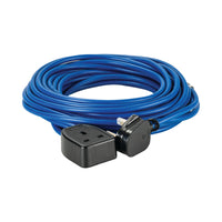 14M Extension Lead - 13A 1.5mm Cable - Blue 240V