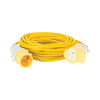 14M Extension Lead - 32A 2.5mm Cable - Yellow 110V