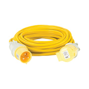 14M Extension Lead - 32A 4mm Cable - Yellow 110V