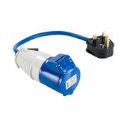 13-16A Fly Lead - 13A (Plug) > 16A (Socket) 240V