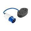 16-2x 13A Fly Lead - 16A (Plug) > 2x 13A (Socket) 240V