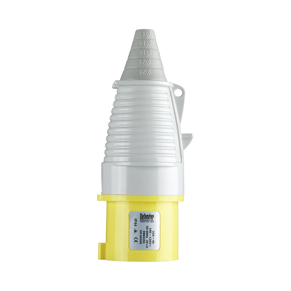 32A Plug - Yellow - Blister Pack 110V