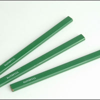 Carpenters Pencils Pack of 3 - Green/Hard (FAITHFULL)
