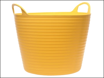 Flexi Tub 42Ltr Heavy Duty - Yellow Polyethylene