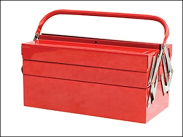 Metal Cantilever Tool Box 16in 5 Tray (FAITHFULL)