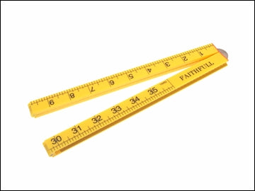 Folding Ruler - Yellow Abs Plastic 1mtr