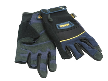 Carpenters Gloves - Half Finger Size Large (IRWIN)