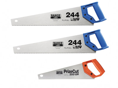 Bahco 2 x 244 Hardpoint Handsaw 550mm (22in) & 1 x 300-14 Toolbox Saw 350mm (14in) - BAH24422P300