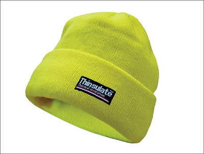 Scan Hi-Vis Beanie Hat Thinsulate Lined - One Size