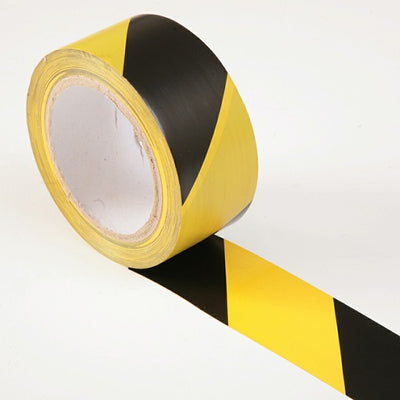 Hazard Warning Safety Tape Yellow & Black 50mm x 33m (Faithfull)