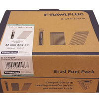 Rawlplug Angled Brad Nails 16 x 45mm x 2000PK Galv Incl. 2 Fuel Cells (Paslode Compatible)