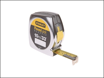 Stanley Powerlock Tape Measure 10m - 33ft