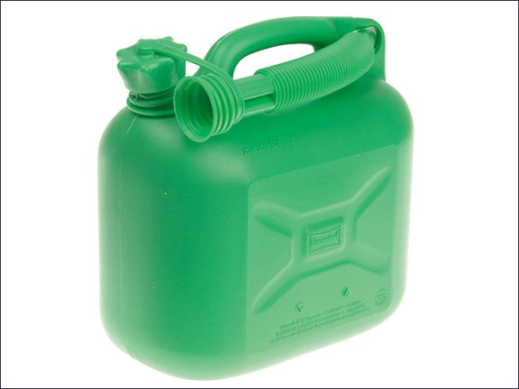 Unleaded Petrol Can & Spout - Green 5 Litre