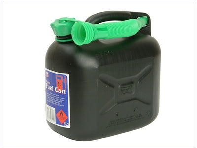 Diesel Fuel Can & Spout - Black 5 Litre