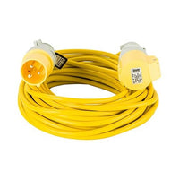 14M Extension Lead - 16A 1.5mm Cable - Yellow 110V