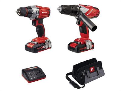 Einhell Power-X-Change Combi & Drill Driver Twin Pack