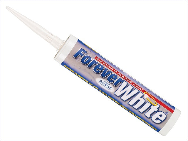 Forever White Silicone Sealant 310ml (Everbuild)