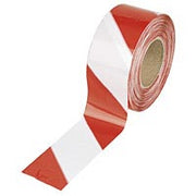 Hazard Warning Tape Red & White  75mm x 500m