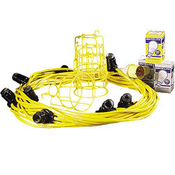 GLS Festoon Kit 22M With 10 Holders ES Fittings 110V