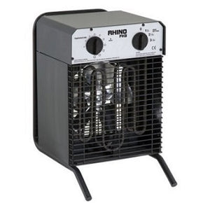 Black Fan Heater 3 Settings 240v FH3 (Rhino)