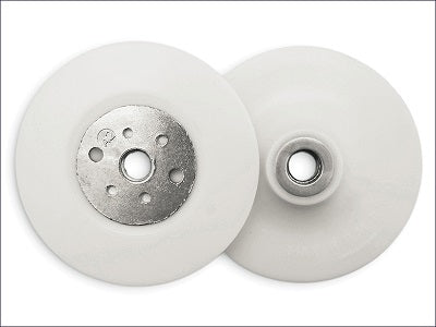 "Angle Grinder Backing Pad White 115mm/4.5"" M14 (Flexipads)"