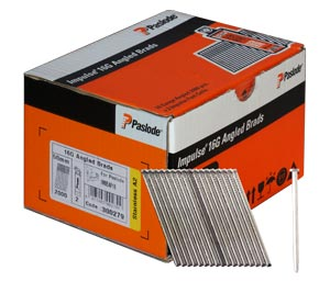 Paslode Angled Brad Nails (IM65A) 45mm X 2000Pk Galvanised Incl. Fuel Cells