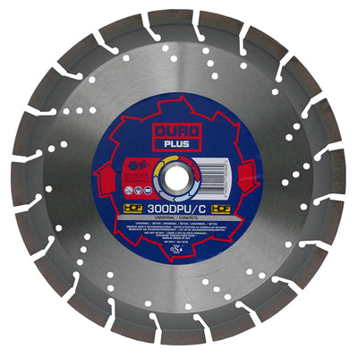 DURO DPU/C Diamond Blade 300mm / 12in - Universal Concrete Blade - View Cutting Details