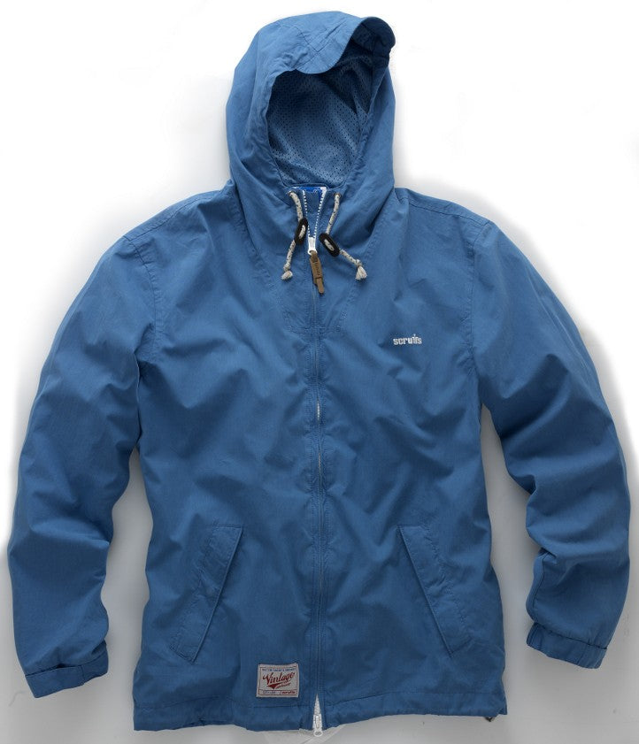 Scruffs Vintage Zip Thru Mac Jacket (Blue) - All Sizes