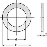 Circular saw reduction rings - 30mm outside & 15.9mm inside - 1.8mm thick (DART)