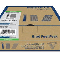 Rawl Straight Brad Nails 16x50mm x 2000PK Stainless St Incl. 2 Fuel Cells (Paslode Compatible)