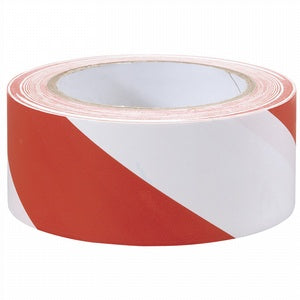 Adhesive Hazard Tape Red/White 33M x 50mm