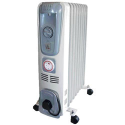 Portable 1.5kw Oil Filled Radiator 240v (RHINO)