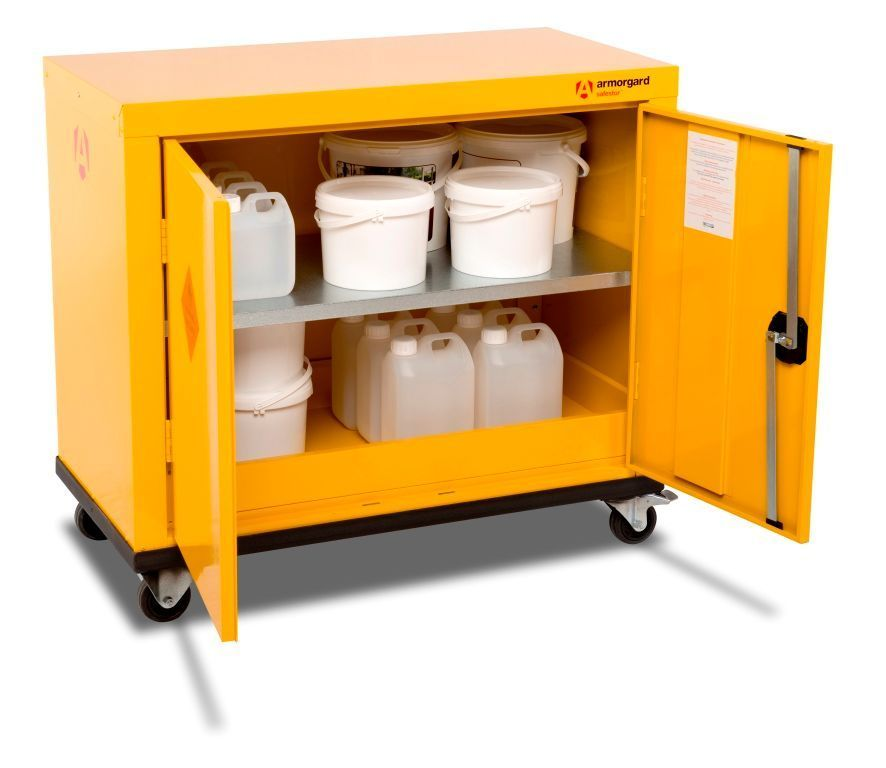 Armorgard HMC1 Mobile Safestor Chemical & Flammable Liquid Cabinet 900 x 465 x 810mm