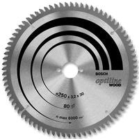Bosch Circular Saw Blade 216mm X 30B X 60T Mitre Cut Wood