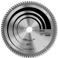 Bosch Circular Saw Blade 160mm X 20B X 12T Optiline Wood