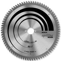 Bosch Circular Saw Blade 184mm X 16B X 48T Optiline Wood
