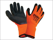 Knitshell Thermal Gloves Orange/Black Size Large