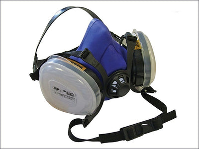 Twin Half Mask Respirator with P2 Filter Cartridges